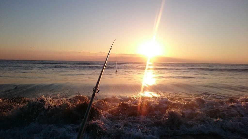 宮崎日向灘サーフの朝焼け