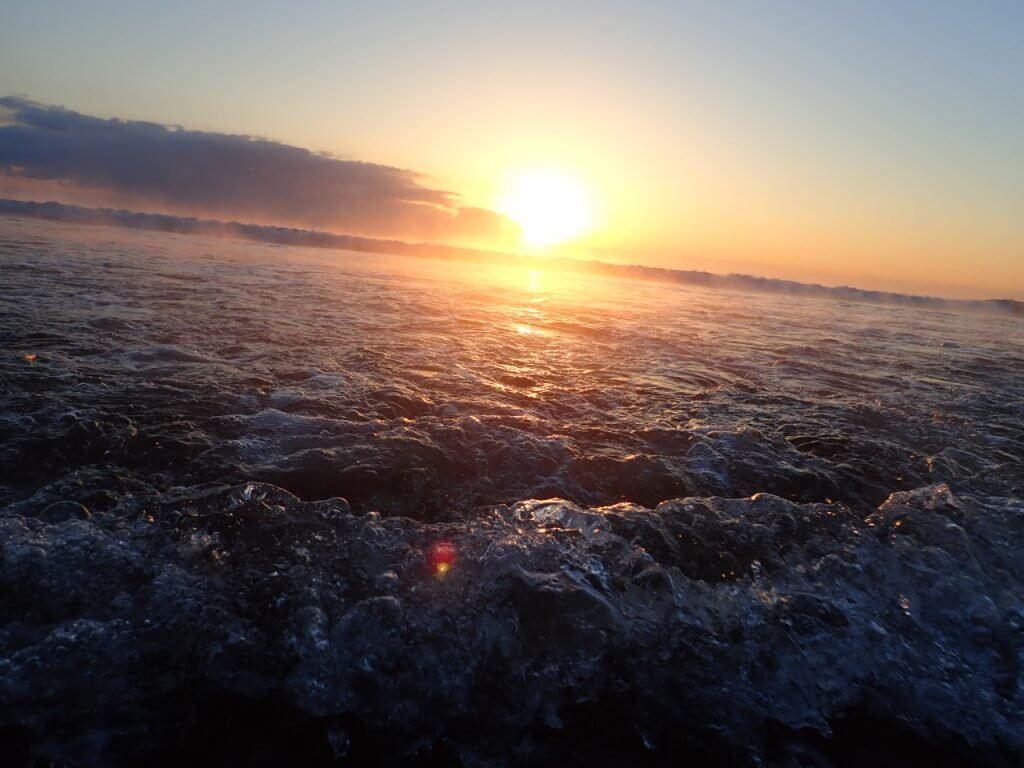 宮崎の海の気嵐