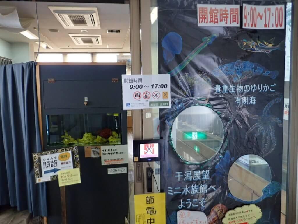 道の駅鹿島に併設された有明海ミニ水族館
