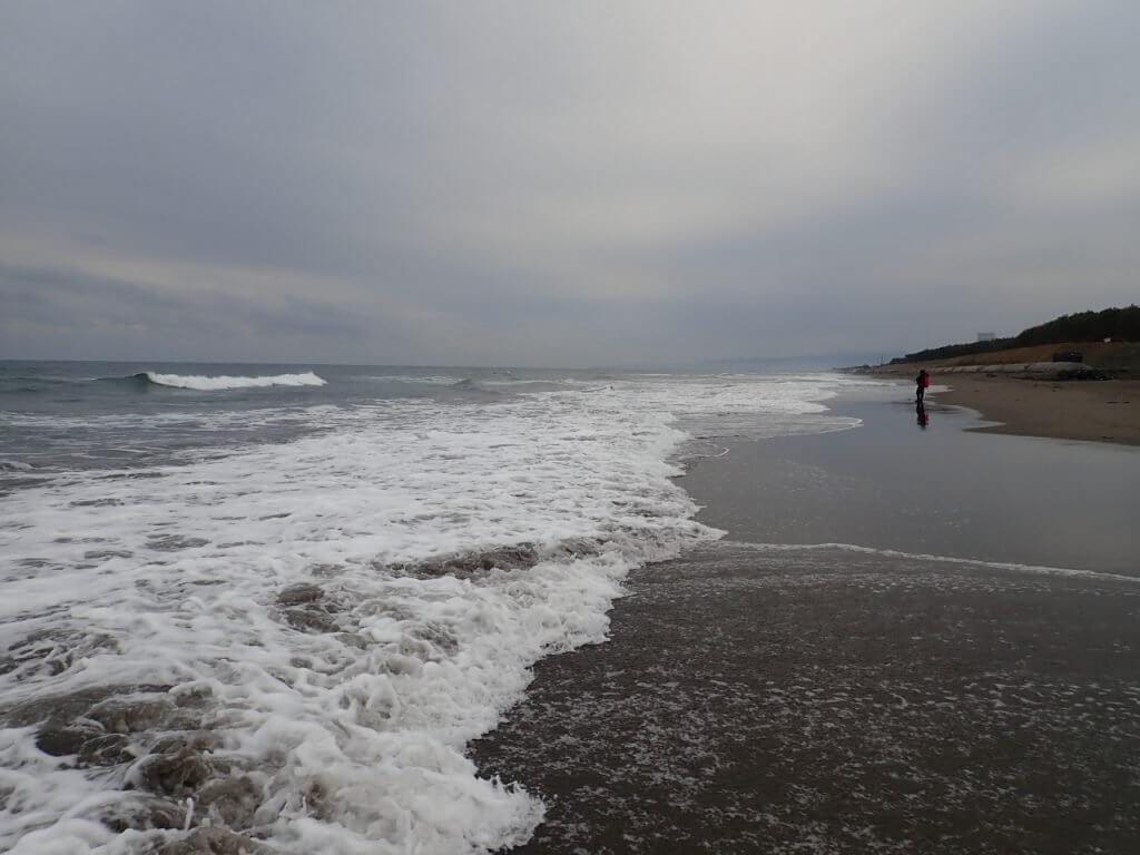 宮崎の広大なビーチ
