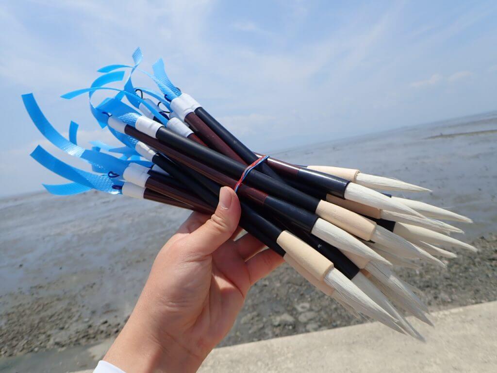 マジャク釣りに使用する自作の筆