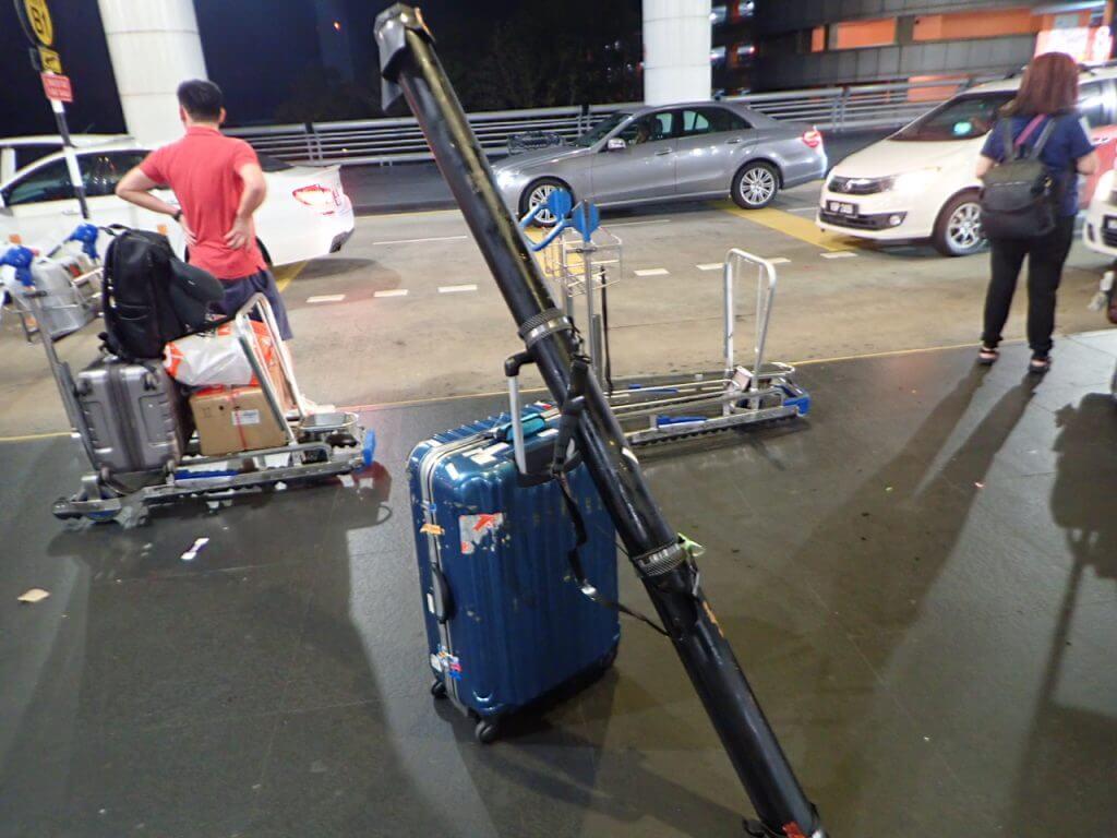 自作ロッドケースをマレーシア釣行へ