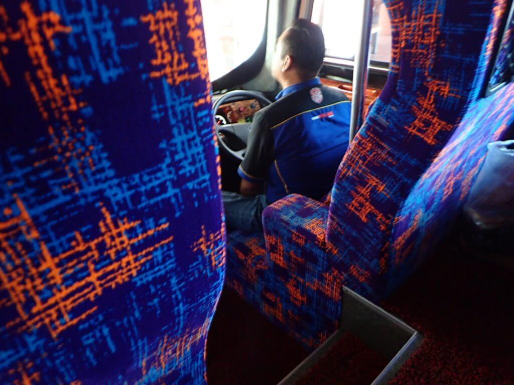 ギリギリで乗れたロンピン行きのバス