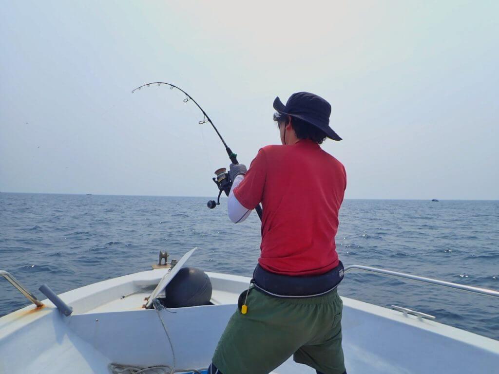 長時間に及ぶ魚とのやり取り