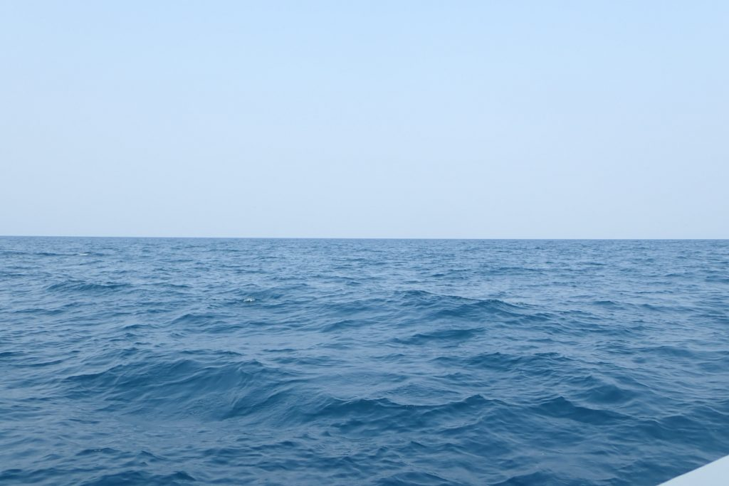 穏やかな海面