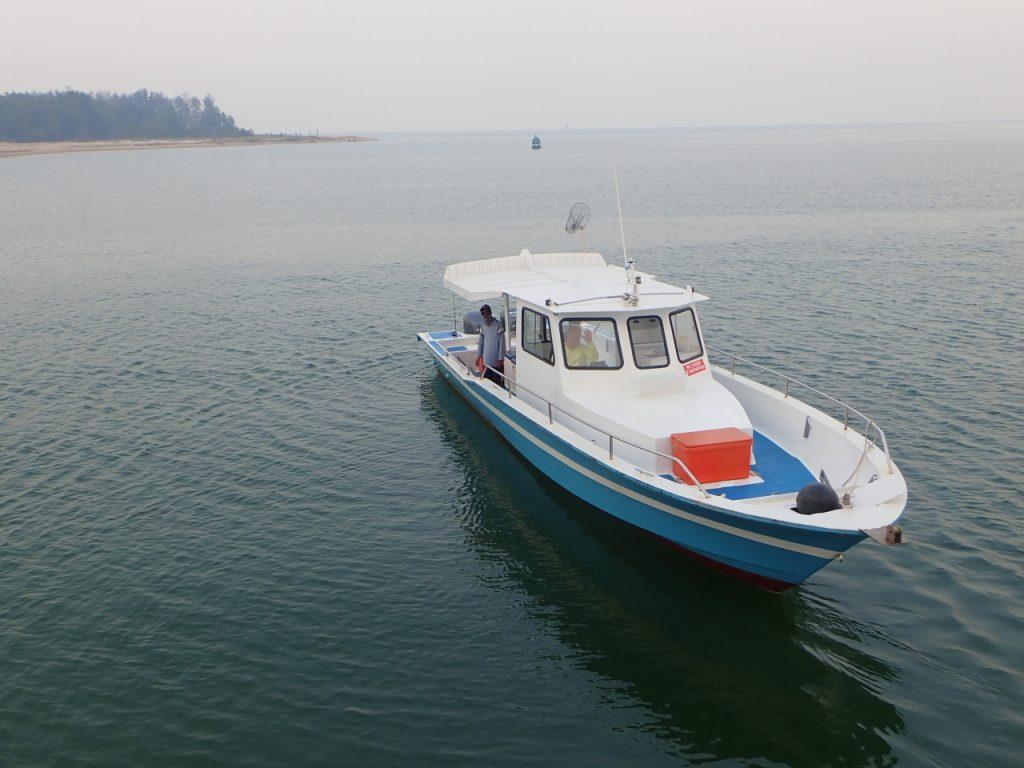 セイルフィッシュ釣りのボート