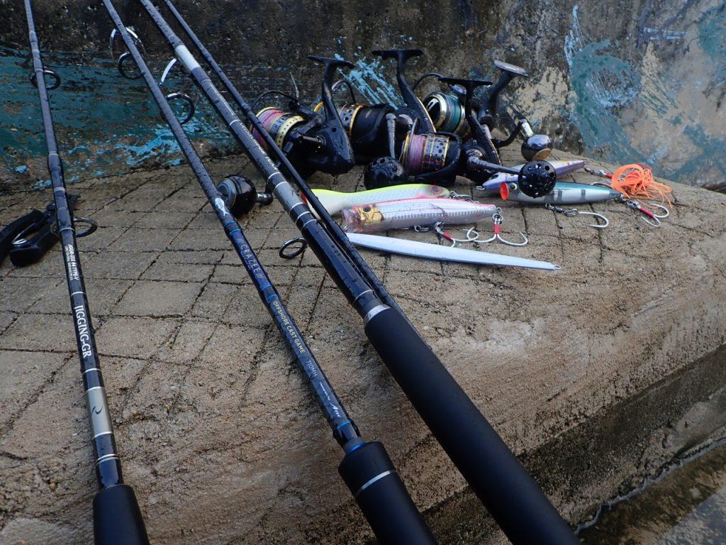 セイルフィッシュ釣りに使用した道具