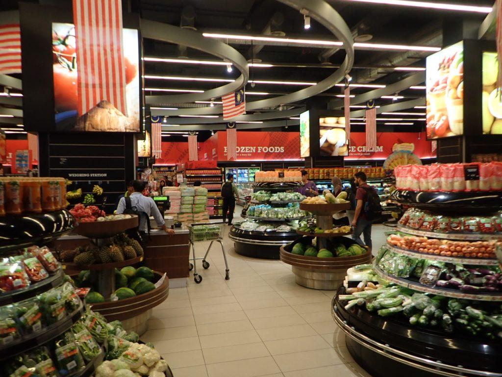 KLセントラル駅のスーパーマーケット