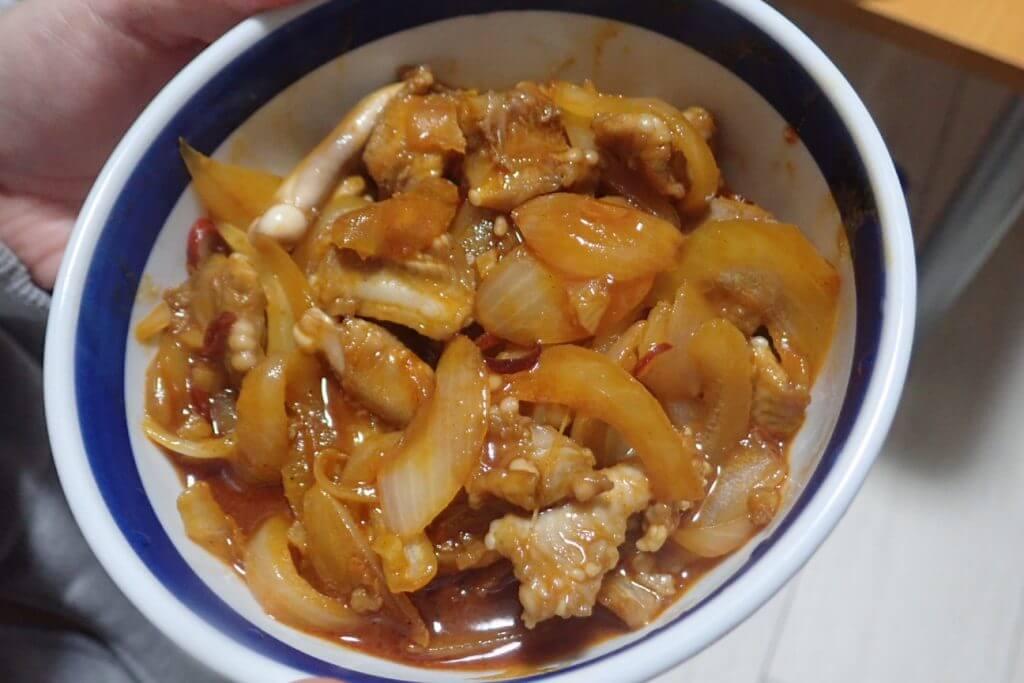 ヌタウナギのコチュジャン炒め