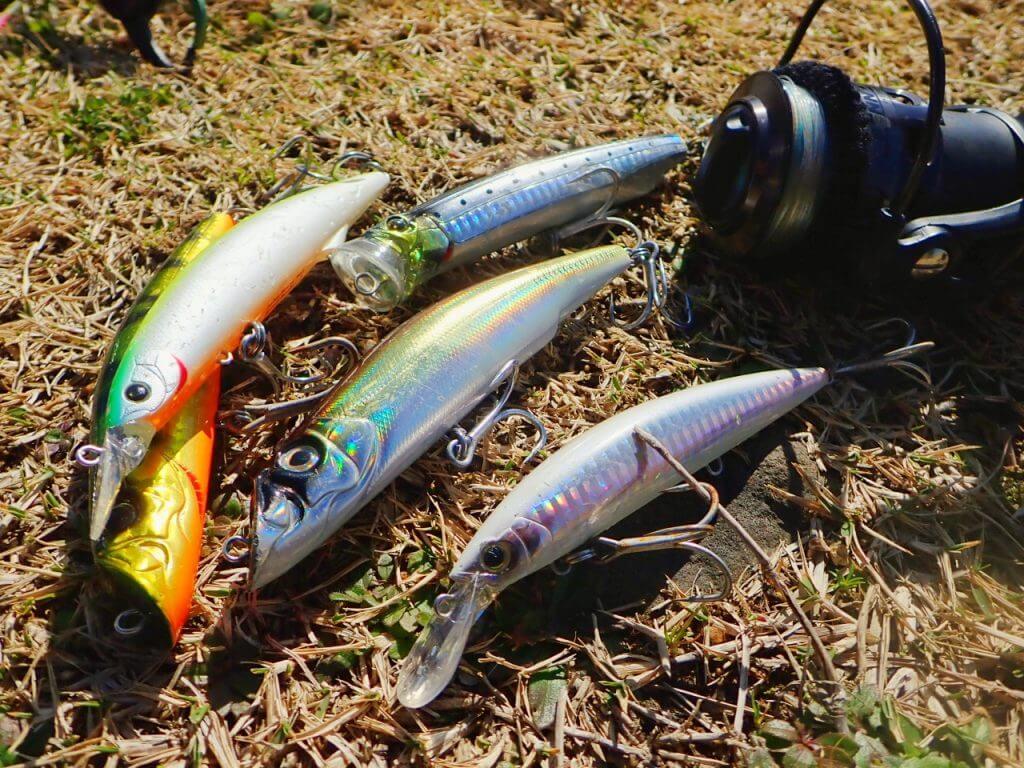 洗浄後の釣り道具