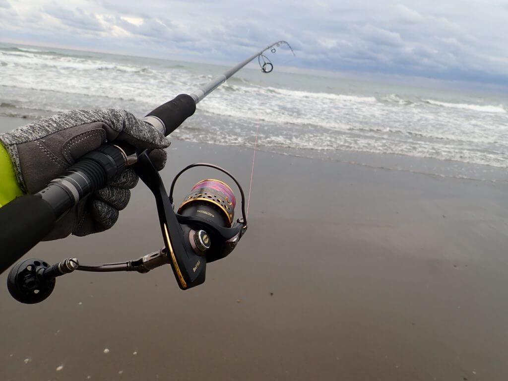 ワークマンの手袋をサーフからの釣りで使用