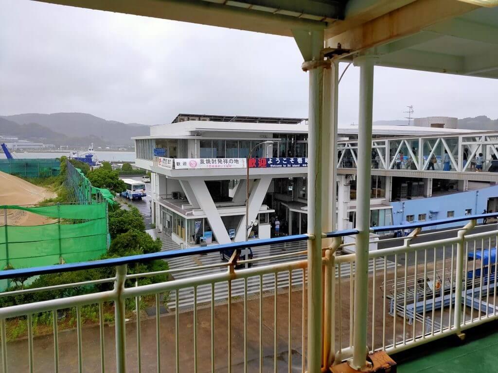 壱岐芦辺港のフェリー乗り場